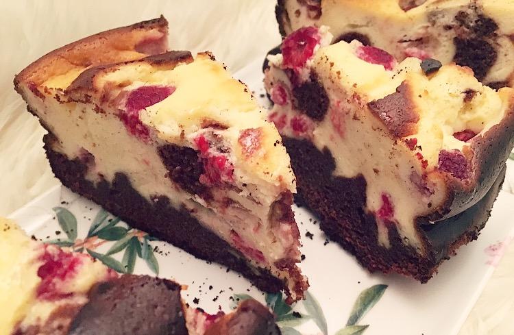 Glutenfree Brownie-Cheesecake