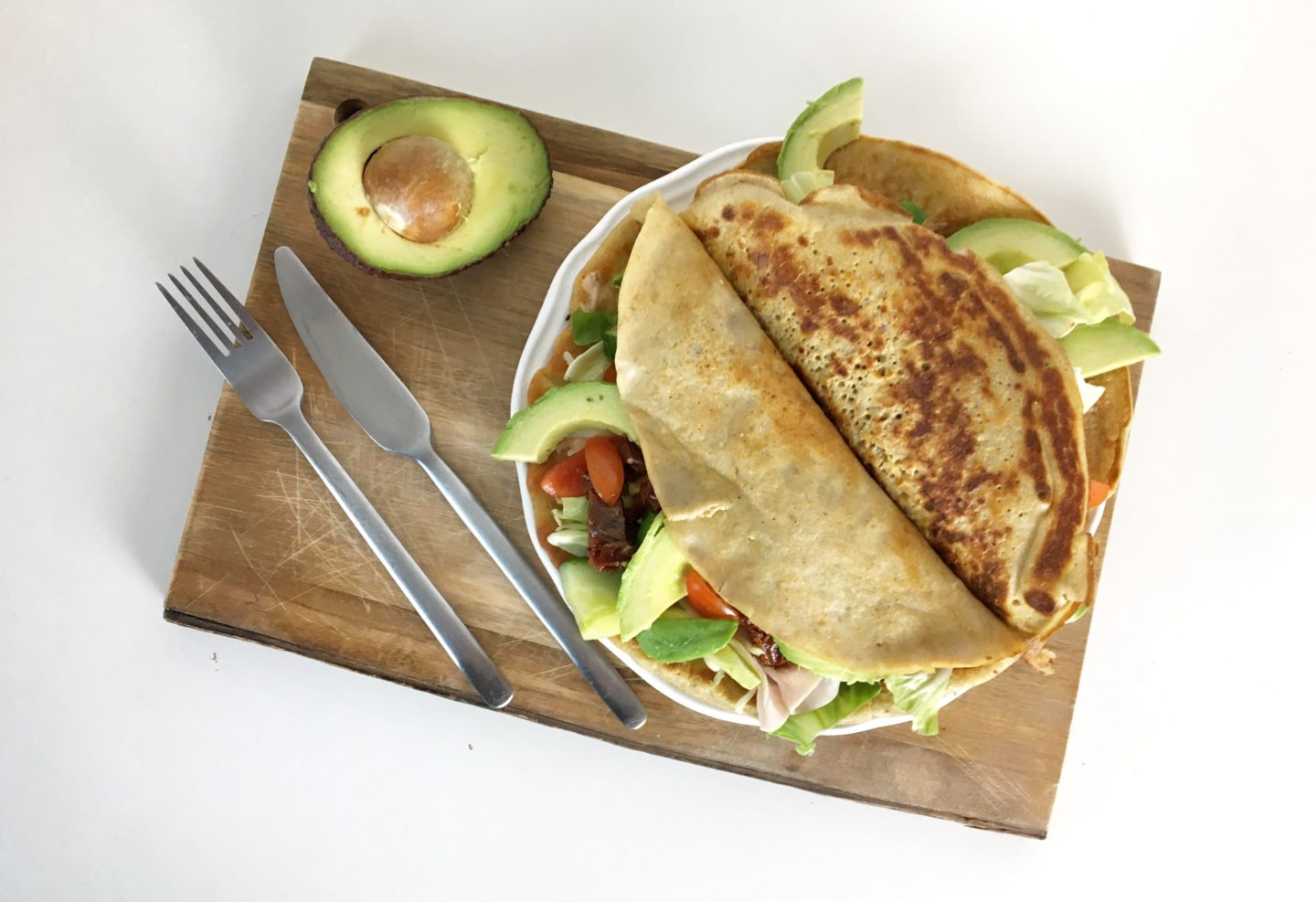 Bunte Lunch-Wraps
