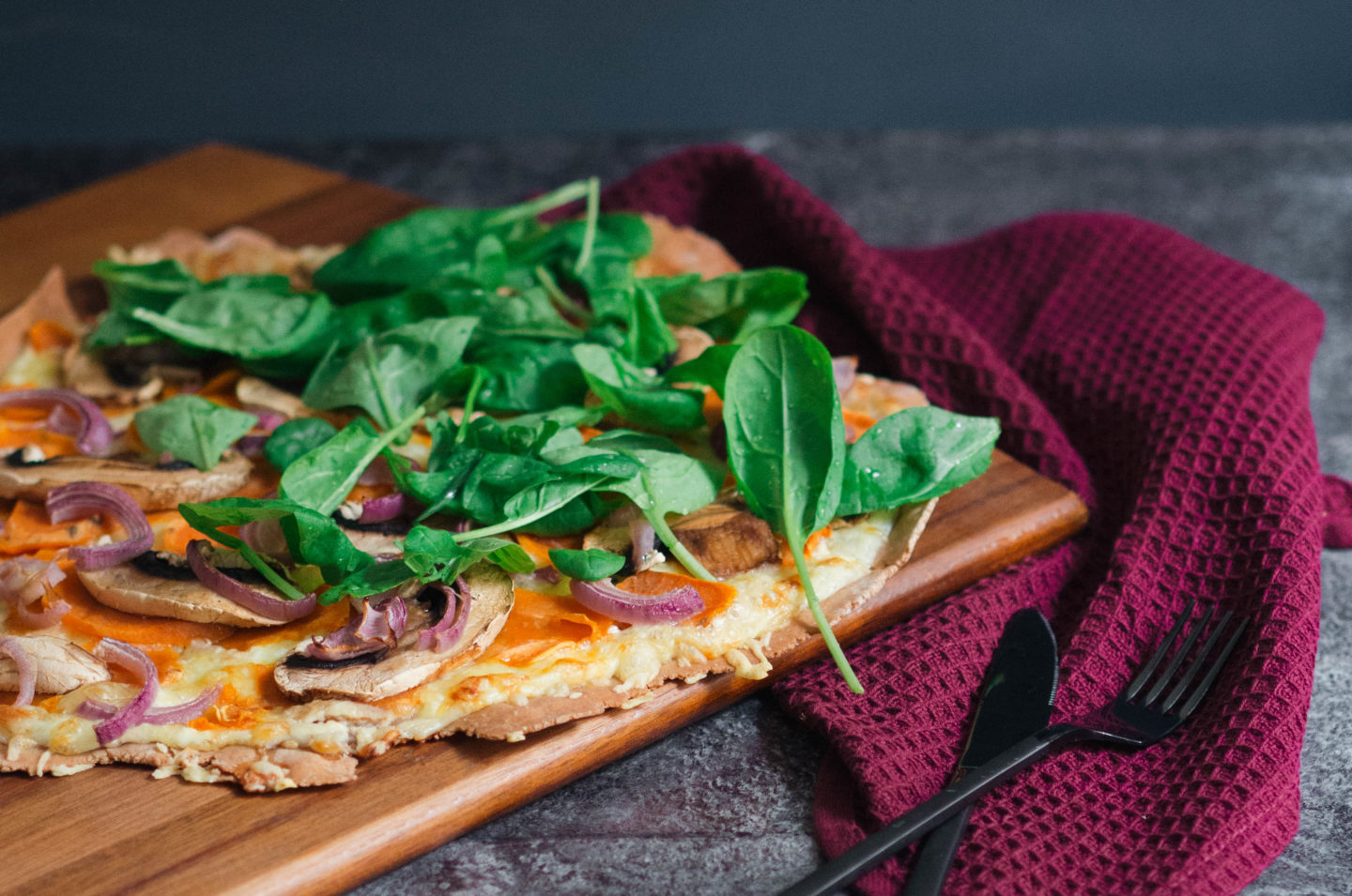 Sweet Potatoe Party: Vegetarischer Flammkuchen